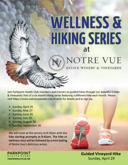 Parkpoint Health Club Guided Vineyard Hike