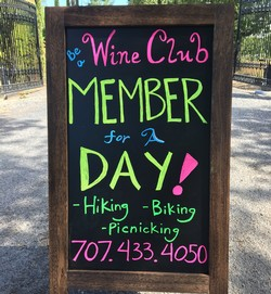 Wine Club Member for a day Shelter In Place