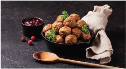 Swedish Meatballs with Lingonberry Sauce